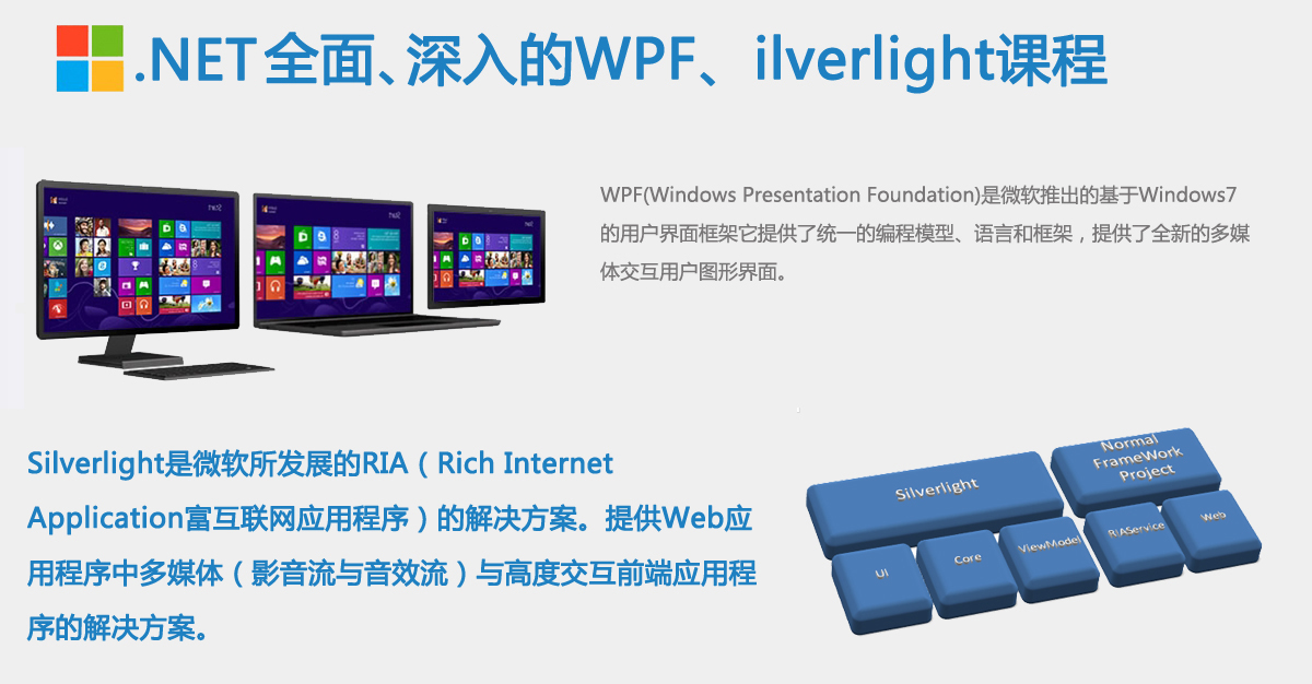 .NET最全面、最深入的WPF、ilverlight课程