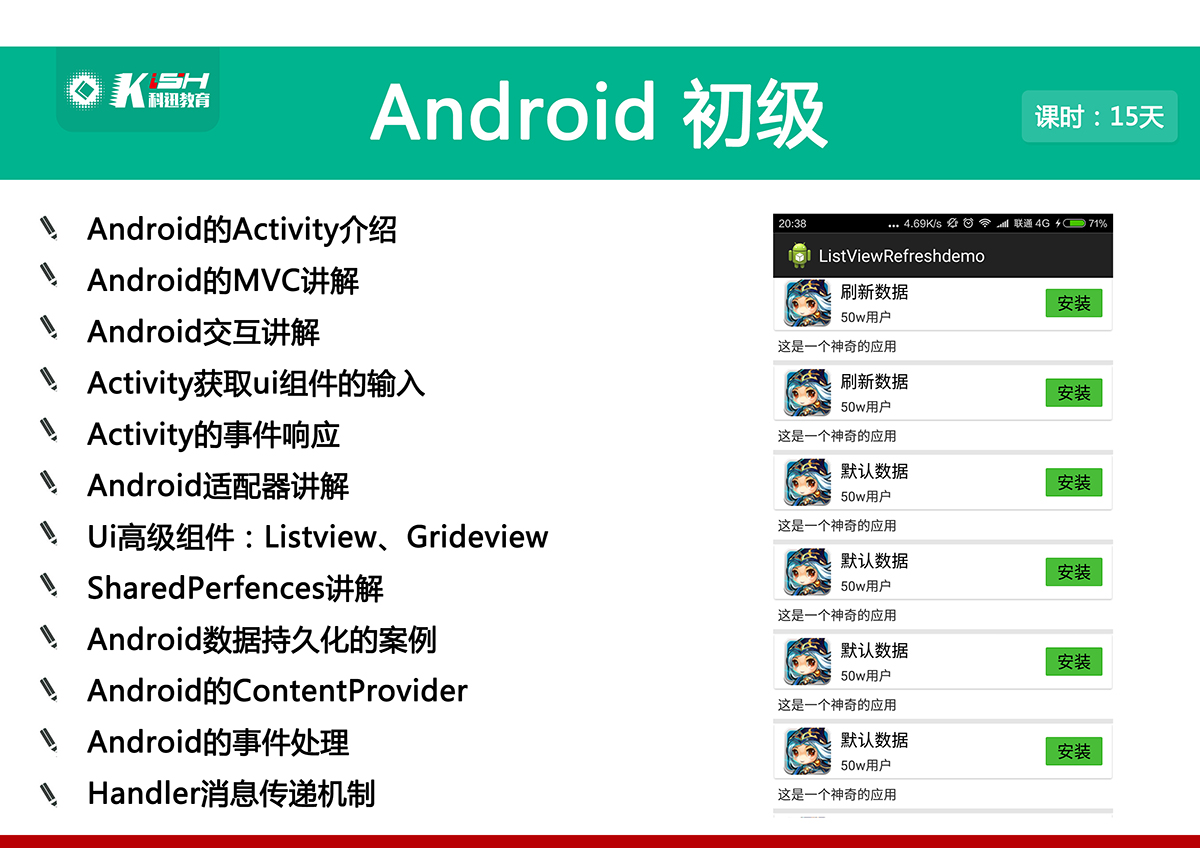 Android课程体系